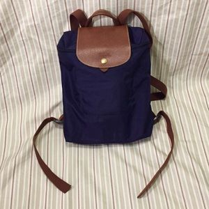Longchamp Le Pliage Backpack (Purple)